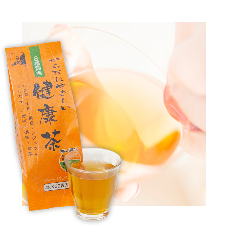 健康茶「8種配合 からだにやさしい健康茶」4g30包 ティーバッグ画像1