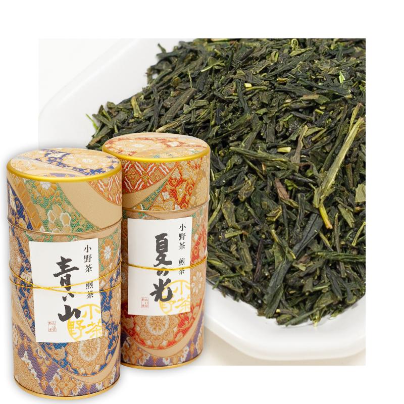 小野茶ギフト 「煎茶」「上煎茶」2缶各120g画像1