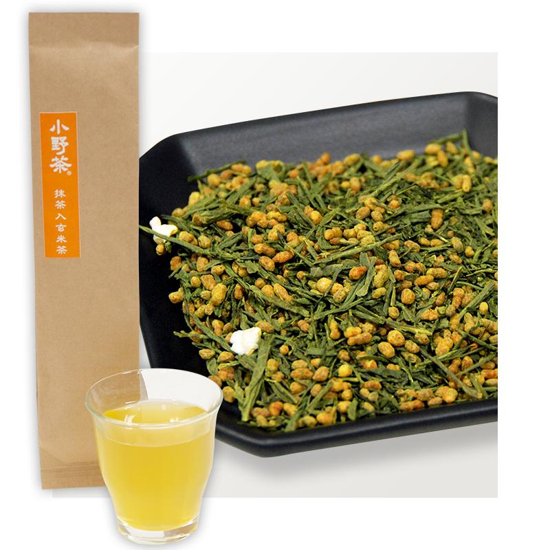小野茶「抹茶入玄米茶」100g画像1