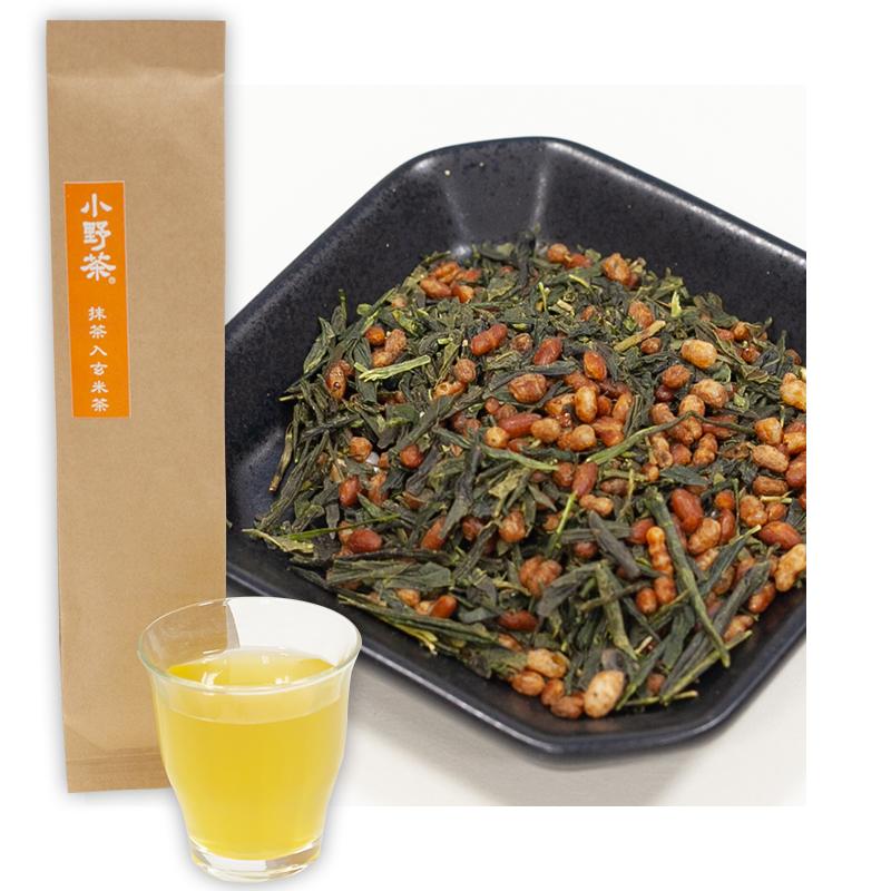 小野茶「抹茶玄米茶」100g画像1